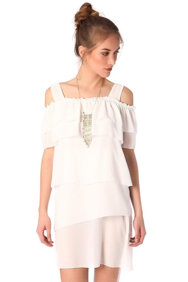 Vestitino multistrato in bianco