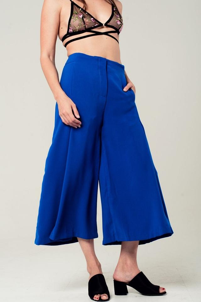 Culotte in blu elettrico