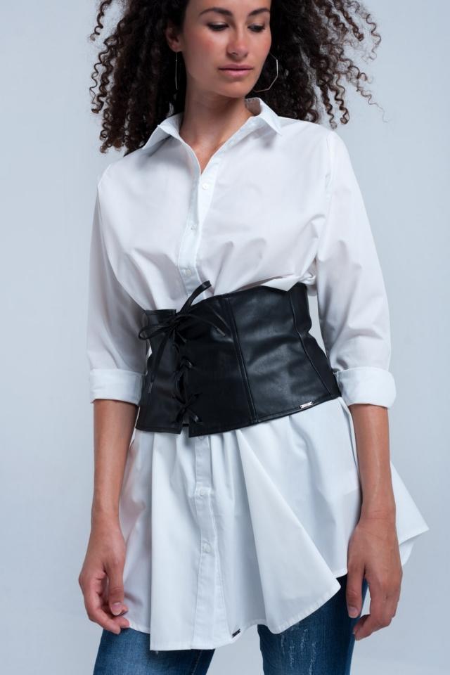Black sash belt