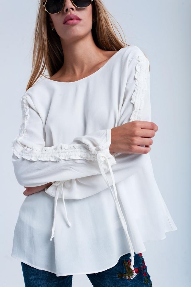 Cream flowing blouse