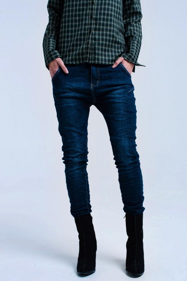 Jeans skinny in taglio 7/8