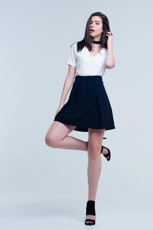 Mini abito bianco e nero