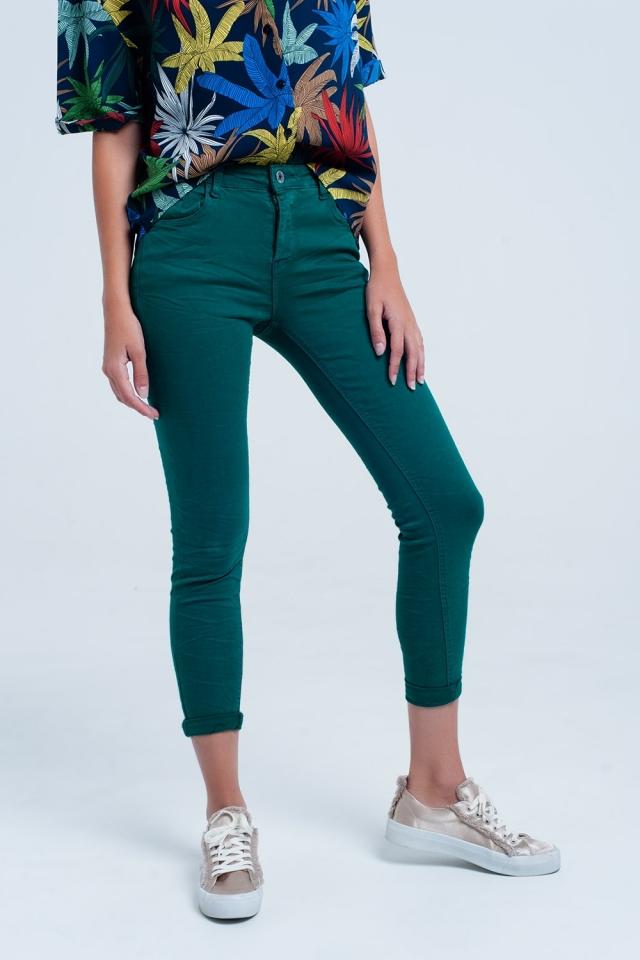 Jeans elasticizzati verdi skinny
