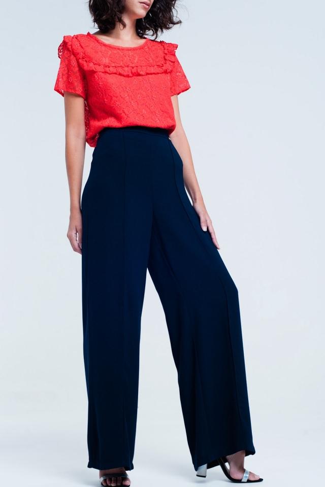 pantaloni larghi blu