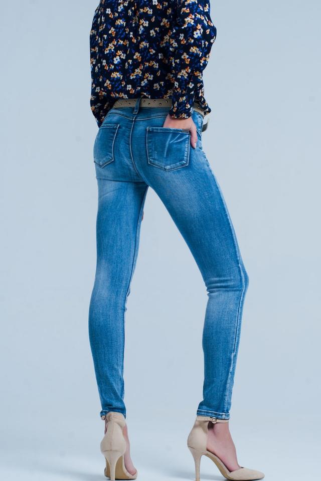 Jeans vita alta skinny push-up