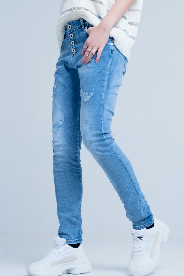 Boyfriend jeans invecchiati
