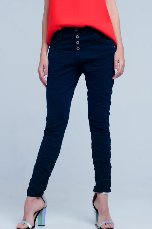 boyfriend Jeans originale blu navy