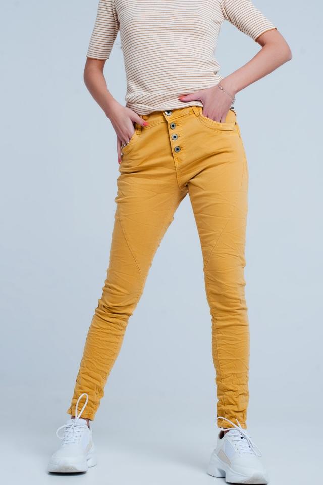 boyfriend Jeans senape originale