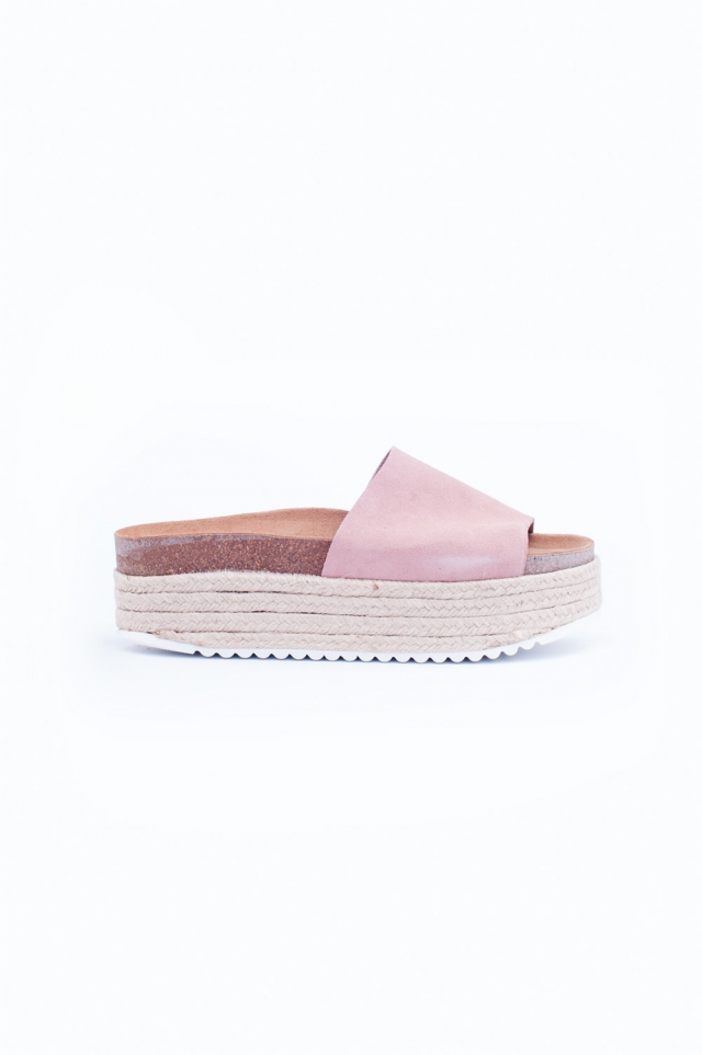 Sandalo rosa sparto