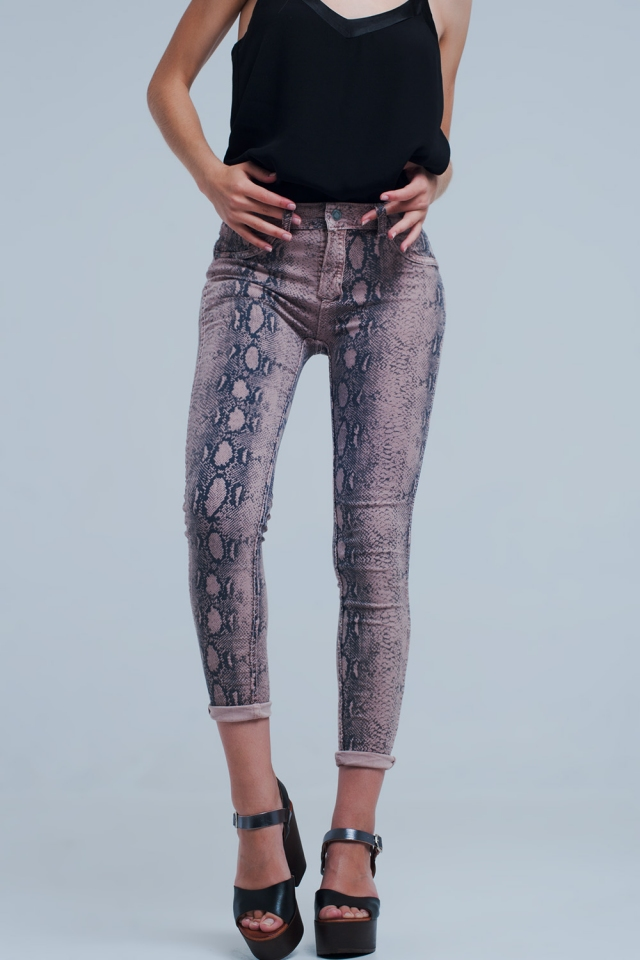 Reversible pink jeans