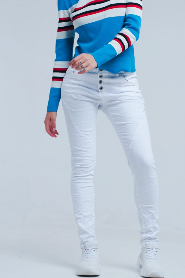 Boyfriend Jeans bianca originale