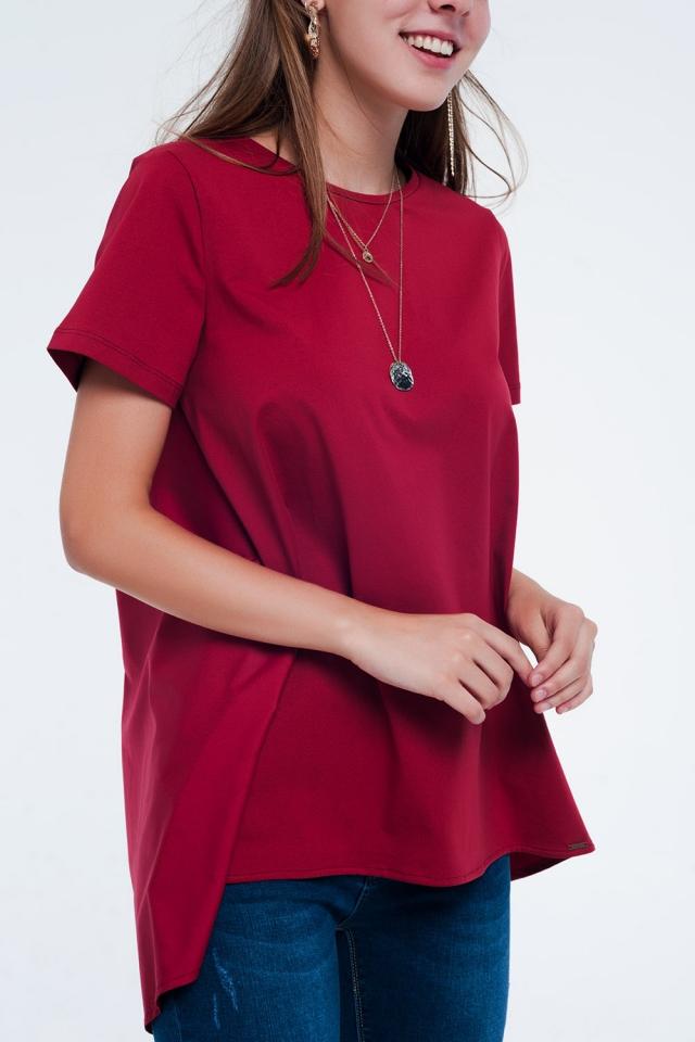 Vestito T-shirt Marrone rossiccio