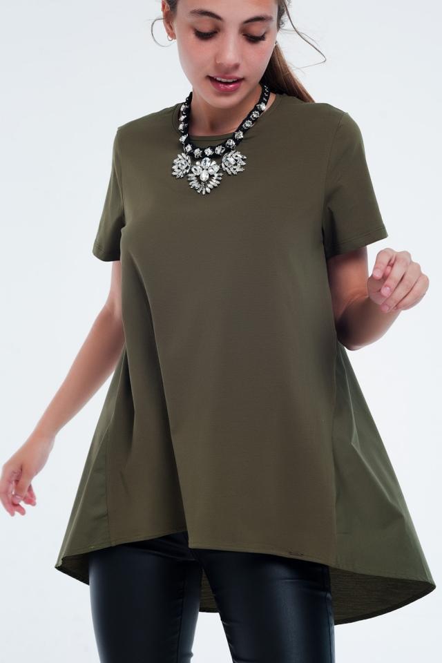 Vestito T-shirt Cachi