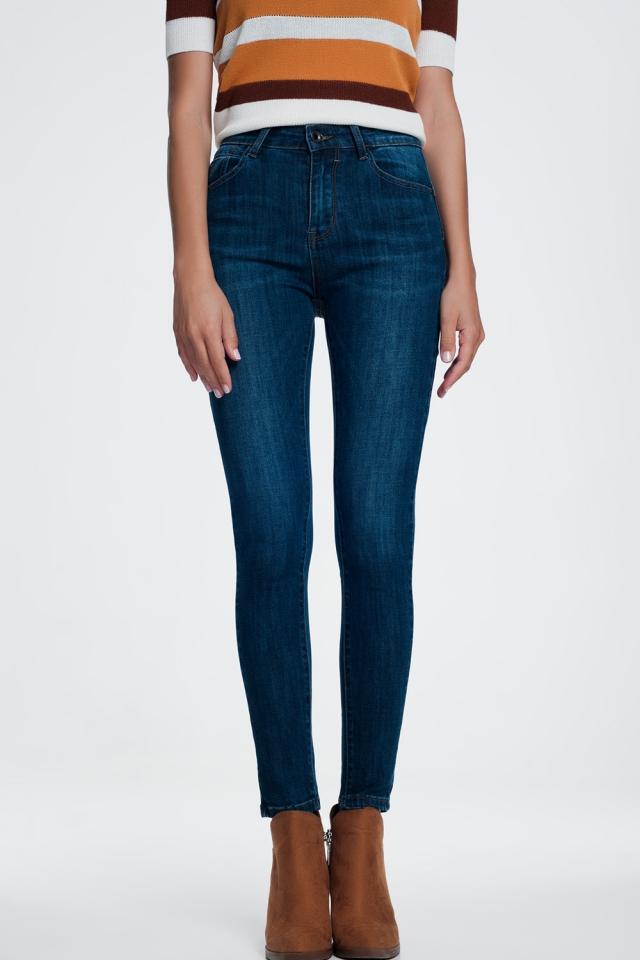 Jeans skinny push-up modellanti alla caviglia