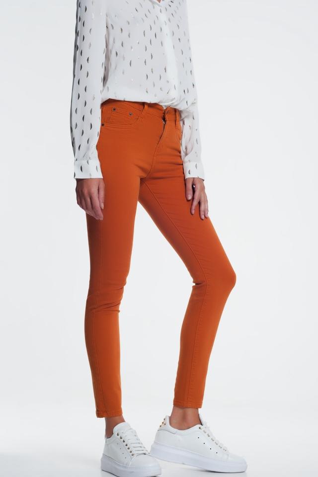 Jeans skinny arancione