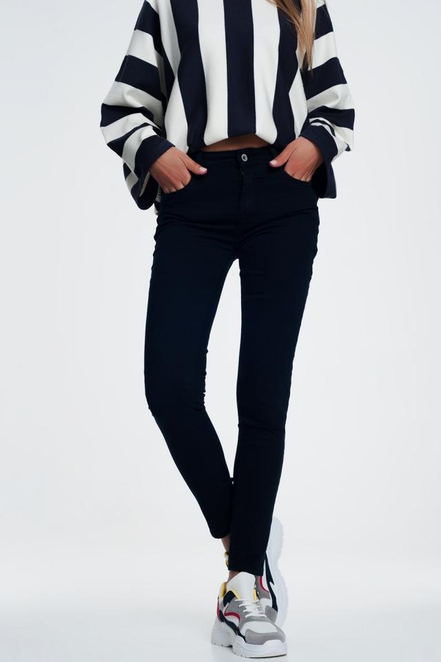 Jeans skinny blu marino