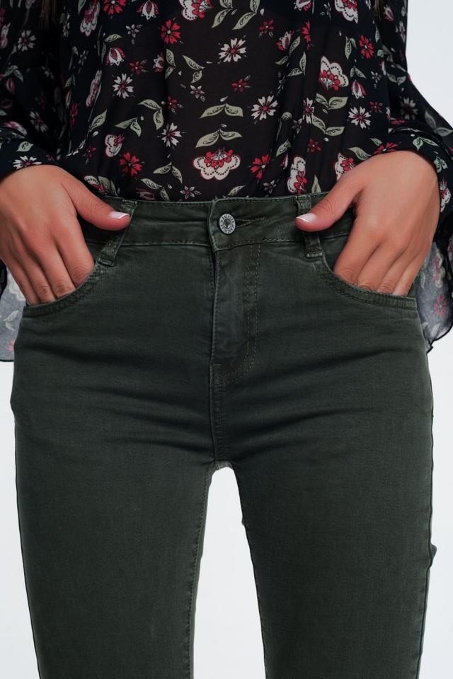 Jeans skinny color Khaki