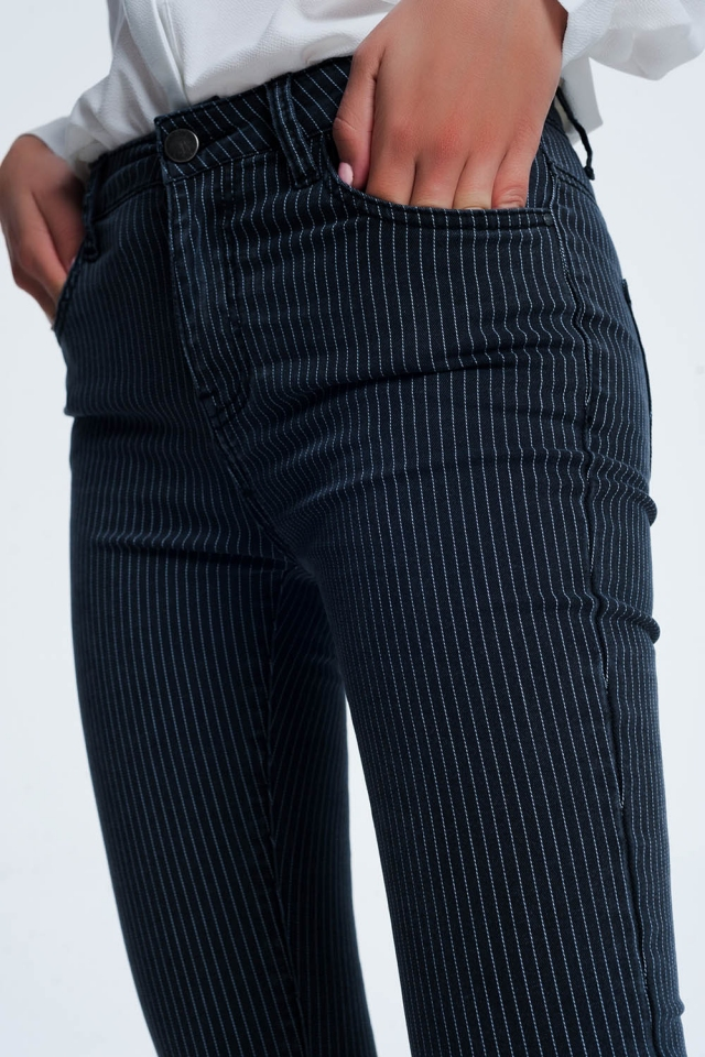 Pantaloni comodi a righe nero