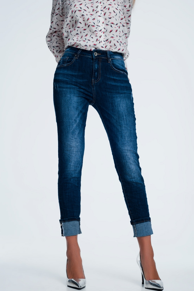 Jeans con risvolti