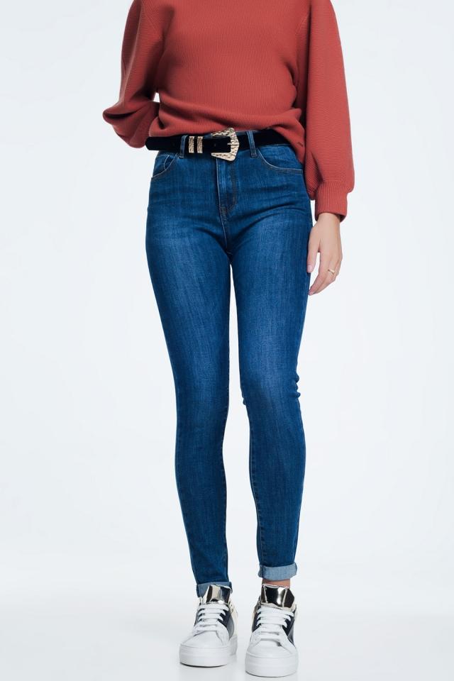 Push up jeans lavaggio scuro