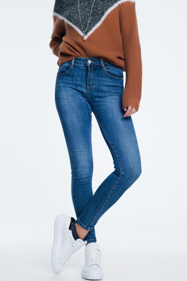 Jeans skinny lavaggio medio