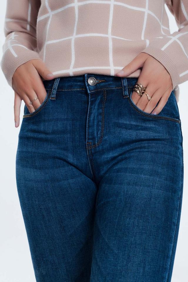 Jeans skinny effetto push-up blu