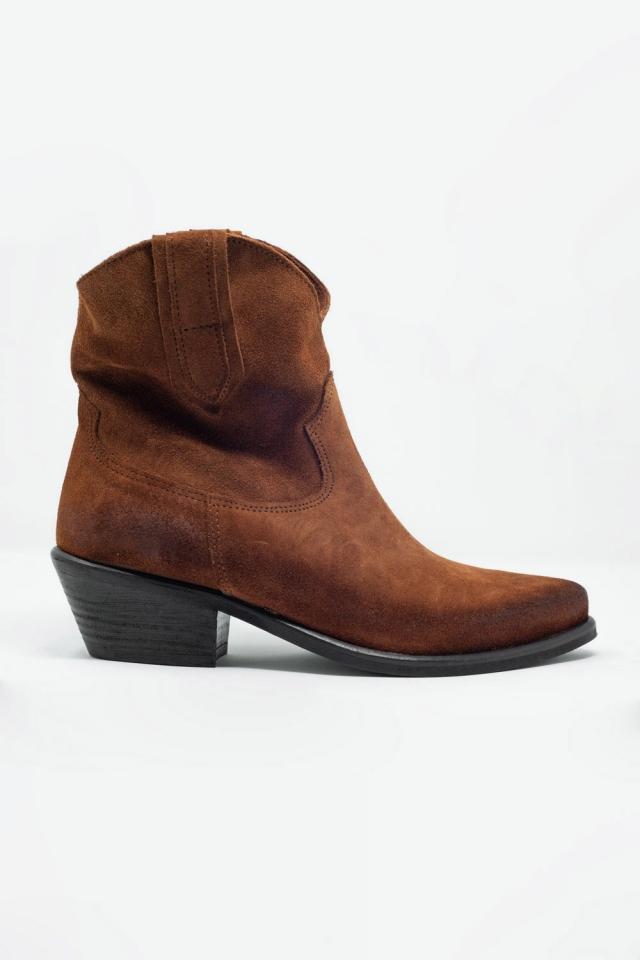 Stivaletti stile western marroni