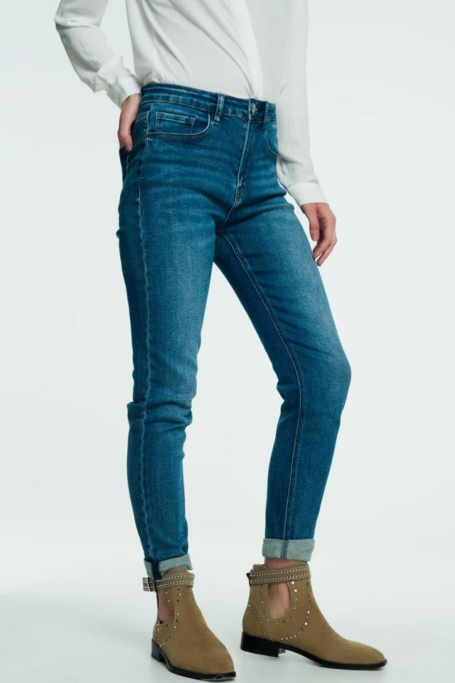 Mom jeans blu