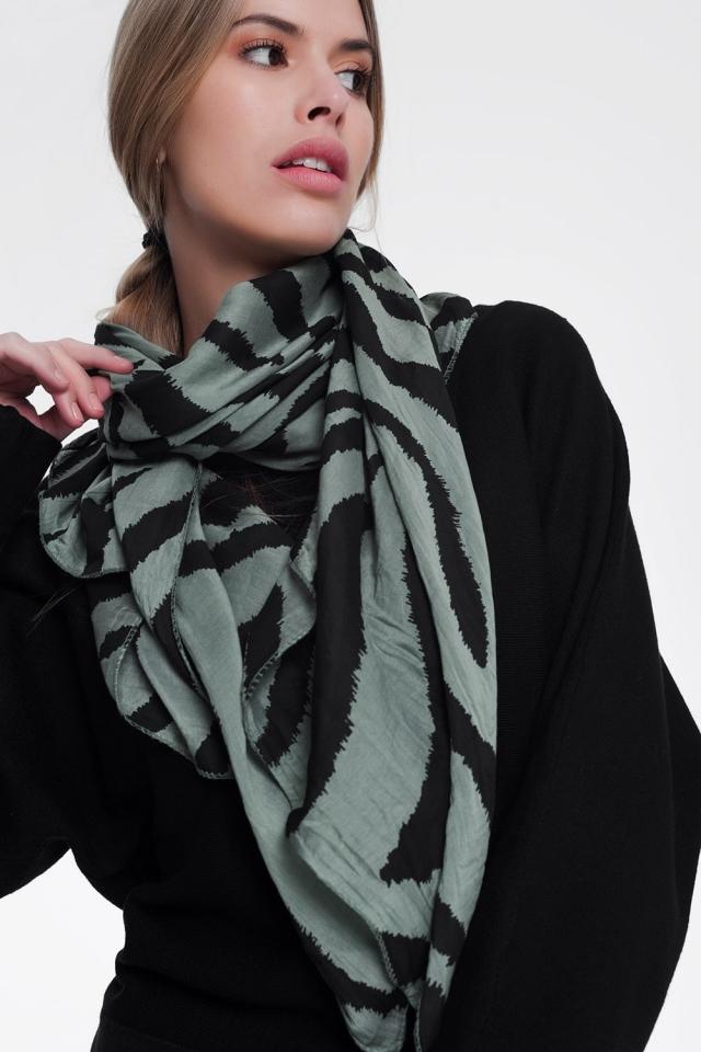 Foulard cachi stampato zebra