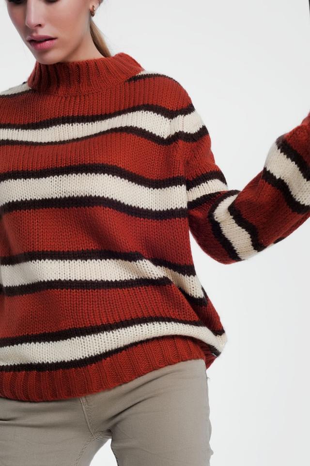 Maglione con dettaglio a righe