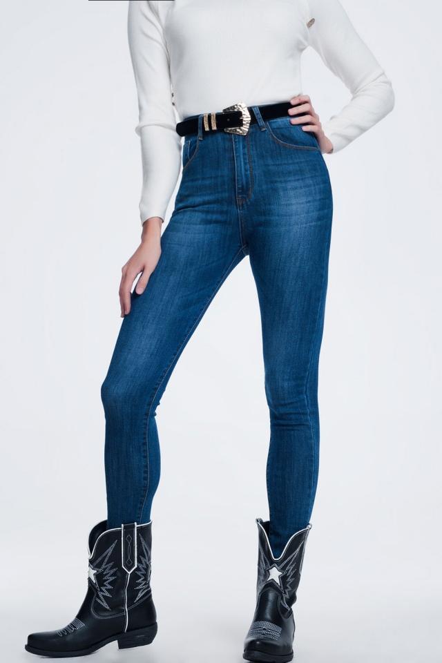 Jeans skinny lavaggio scuro