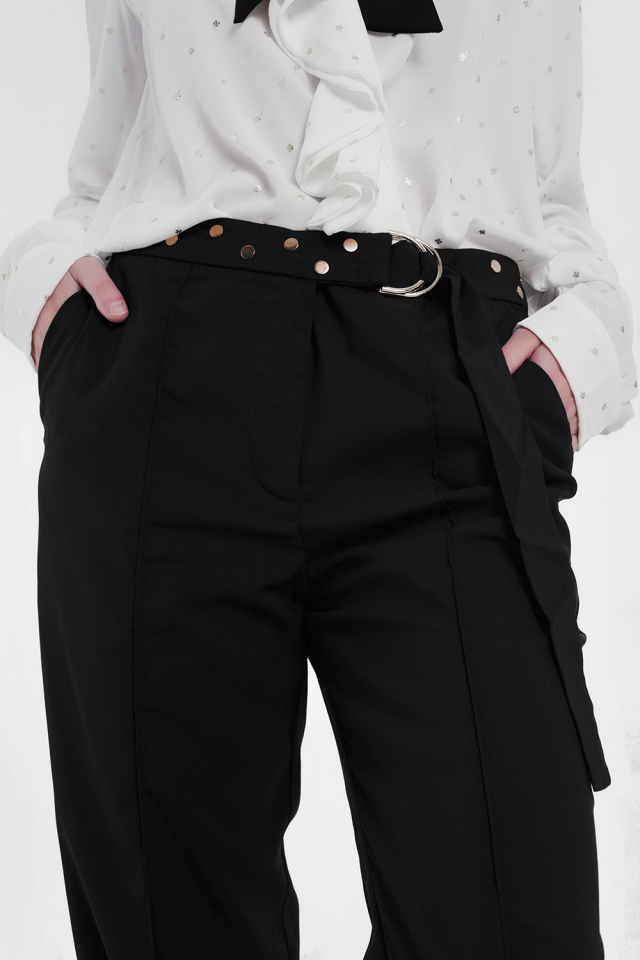 Pantaloni con cintura neri