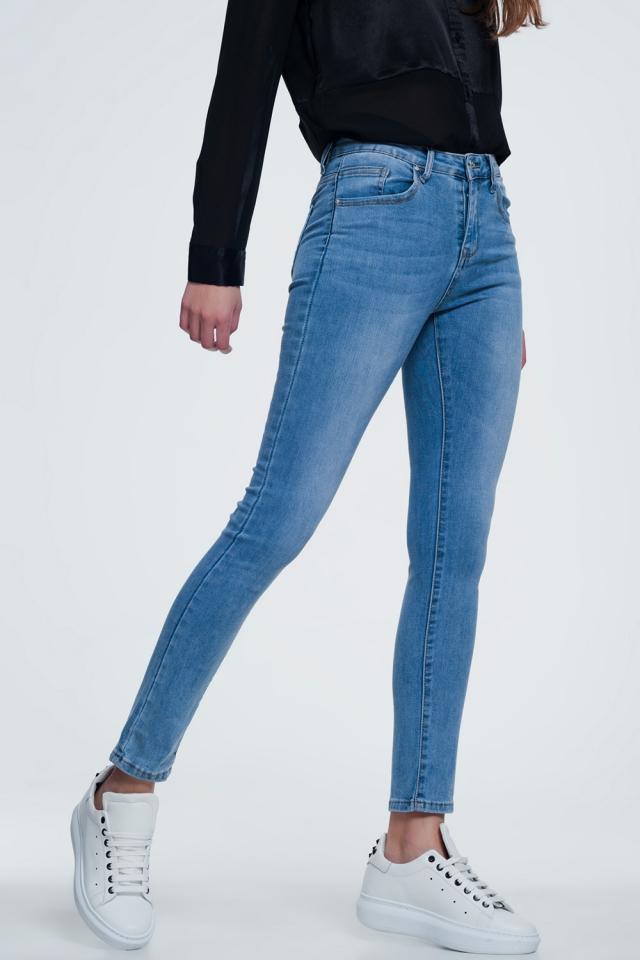 Jeans dritti blu medio
