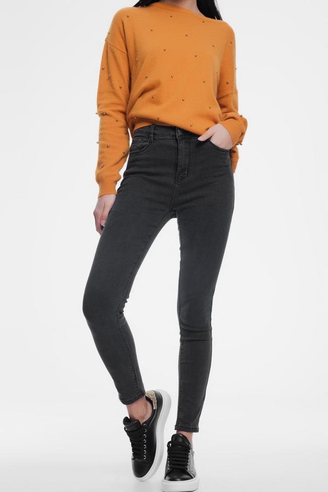 Jeans skinny modellanti grigio scuro