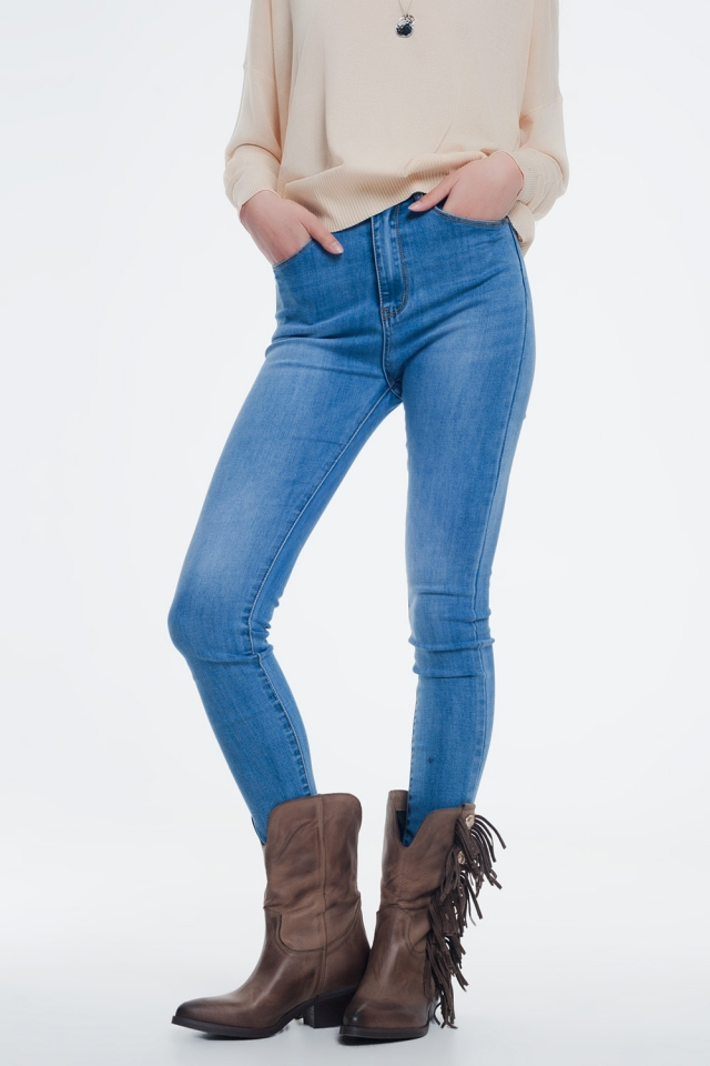 Jeans skinny lavaggio azzurro