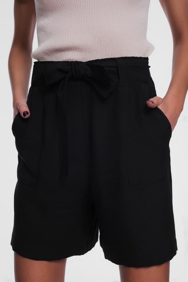 Pantaloncini con cintura neri