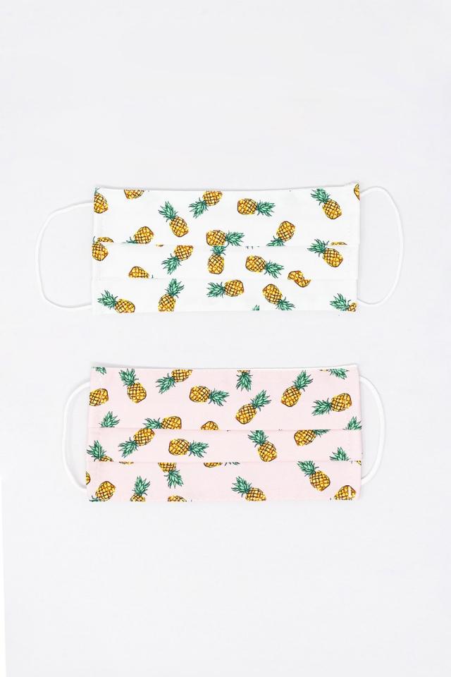 2 PACK maschera stampa ananas