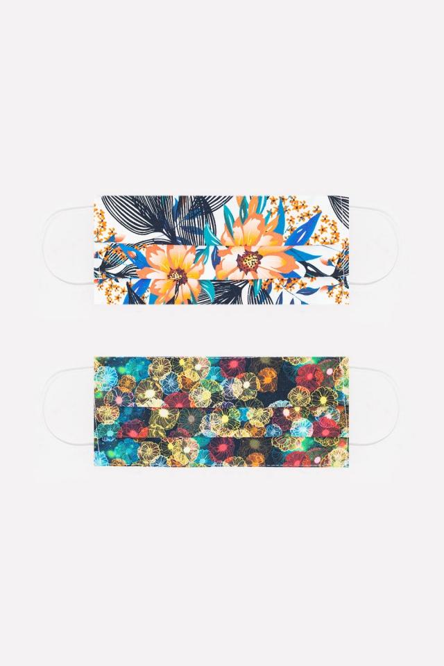 2 PACK Maschera con stampa floreale e tropical