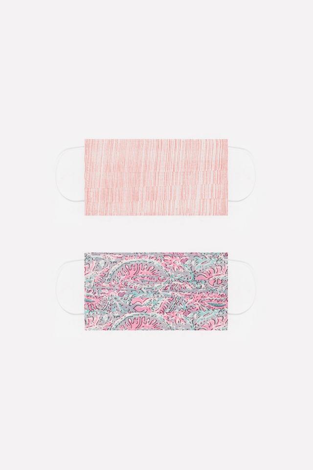 2 PACK Maschera rosa cotone organico con stampa