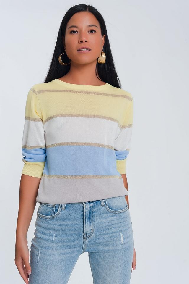 Maglione colorato a righe