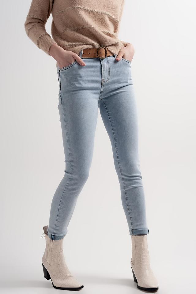 Jeans skinny modellanti push-up blu