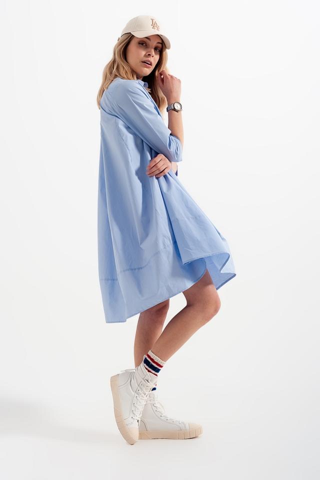 Vestito camicia oversize blu