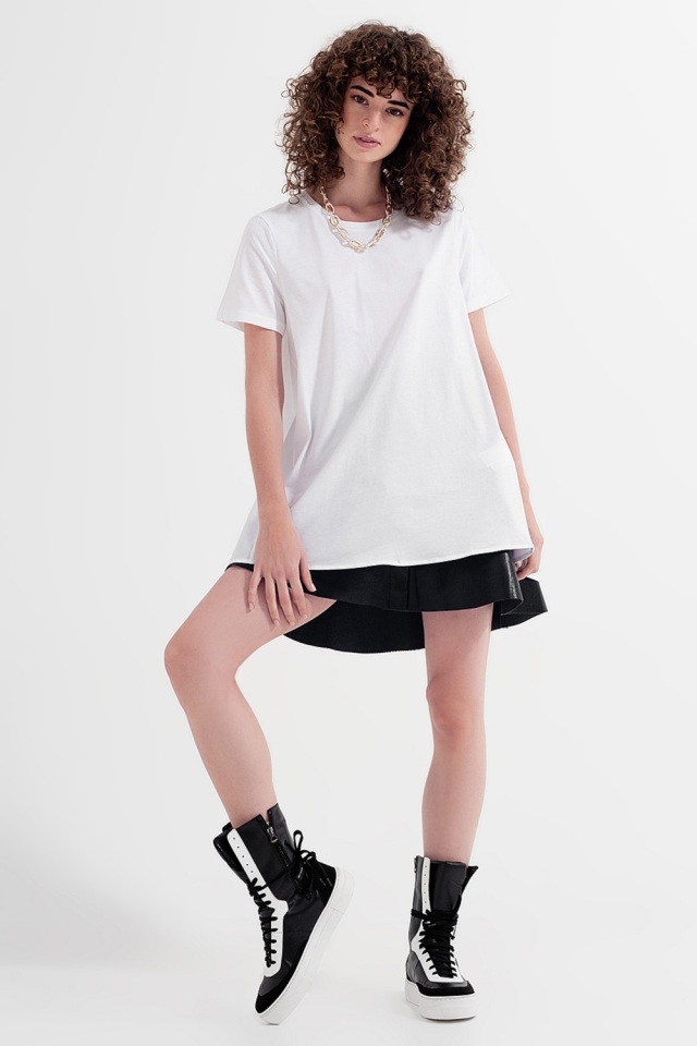 Vestito T-shirt bianco