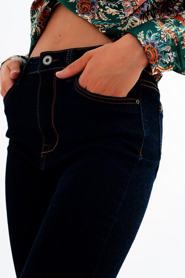 Jeans slim lavaggio blu scuro