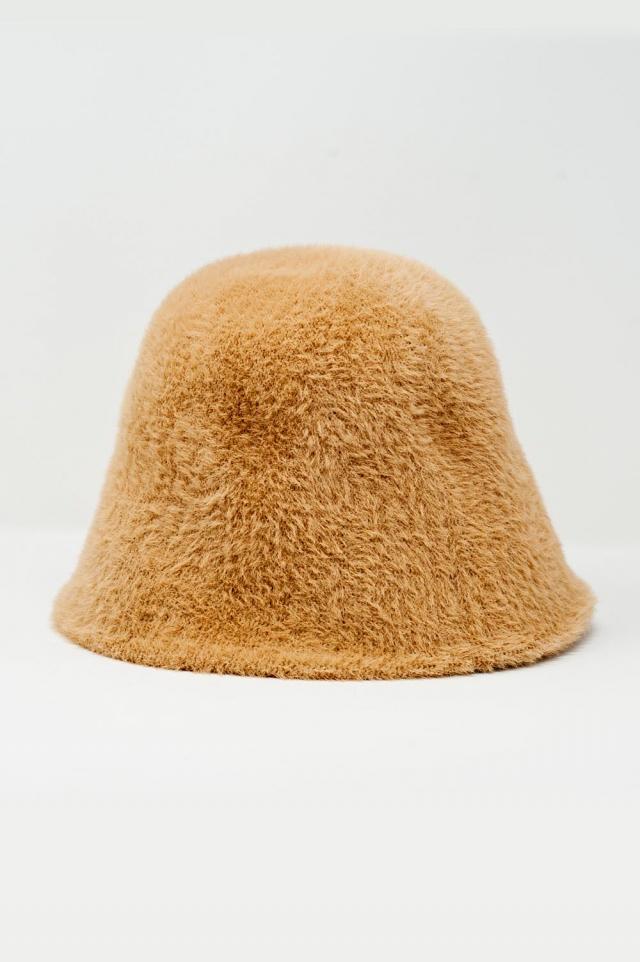 Cappello da pescatore in maglia beige