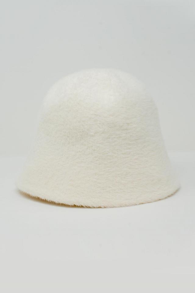 Cappello da pescatore in maglia crema