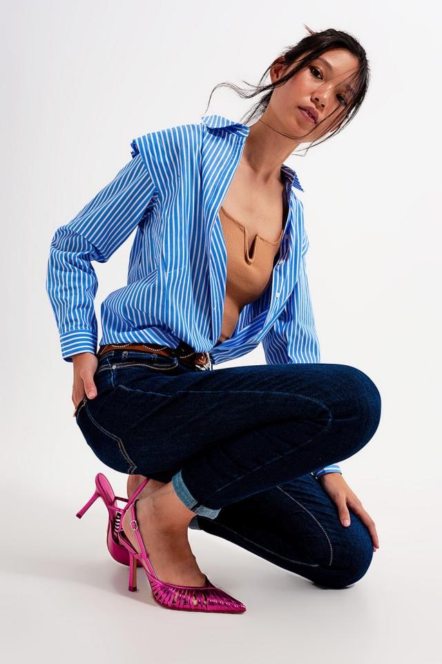 Jeans skinny lavaggio blu scuro