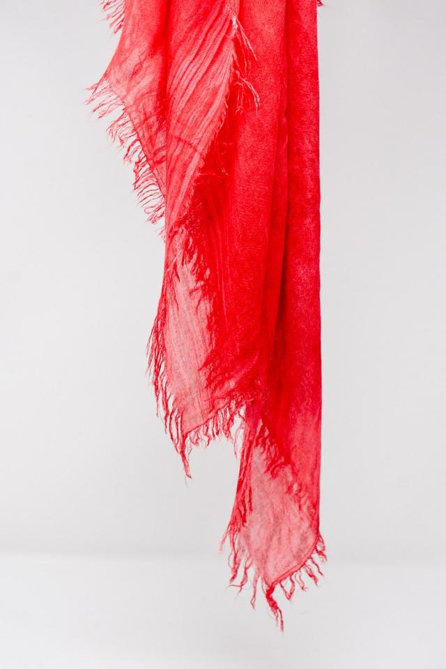 Sciarpa leggera in color rosso